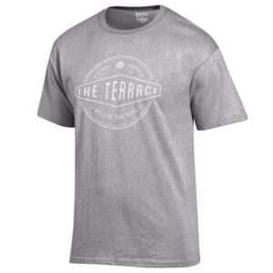 -Its true! We like having you here on the Terrace. Let everyone know it with this 100% cotton terrace t-shirt.