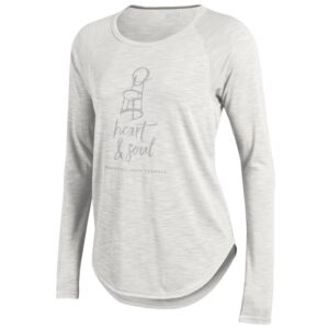 Everyone knows that the Memorial Union Terrace is the heart & soul of campus. Take it with you wherever you are with this raglan long sleeve t-shirt.